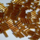 Clearance Large Pack 8mm Glass Bugle Beads. Topaz.
